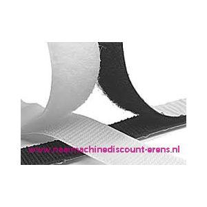 009953 / Klittenband 5 Cm kleur wit voor te plakken