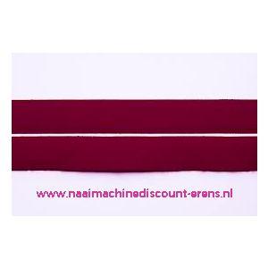 009977 / Klittenband 2 Cm kleur bordeaux voor te naaien