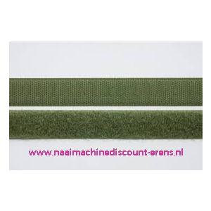 009978 / Klittenband 2 Cm kleur mos groen voor te naaien