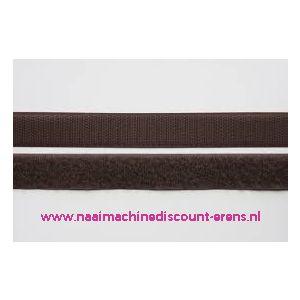 009984 / Klittenband 2 Cm kleur donker bruin voor te naaien