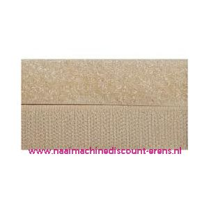 009985 / Klittenband 2 Cm kleur beige voor te naaien