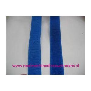 009986 / Klittenband 2 Cm kleur kobalt blauw voor te naaien