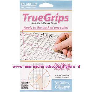 TrueCut antislip-liniaalgrepen 15 stuks klein + 15 stuks groot