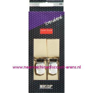 001580 / Men Clips Standaard 125 Cm 30 Mm 10 Creme art. nr. 944011
