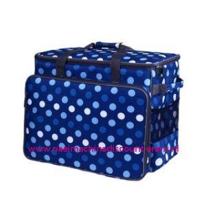 BabySnap naaimachine tas XL ( 50x26x38cm ) Multicolor blauw - wit