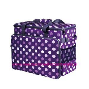 BabySnap naaimachine tas XL ( 50x26x38cm ) Multicolor paars - wit