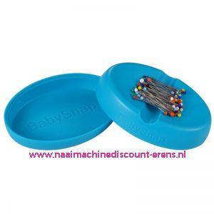 Babysnap magneetspeldenkussen blauw incl. deksel en kopspelden