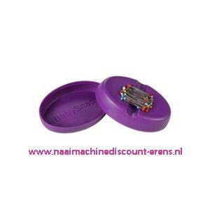 Babysnap magneetspeldenkussen paars incl. deksel en kopspelden
