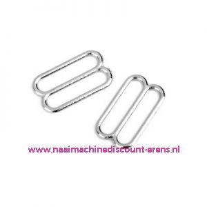 Bh versteller metaal Zilver 11 Mm per stuk Union