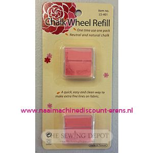 Chalk Wheel Refill Rose