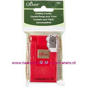 Clover 336 Universele toerenteller kleur rood