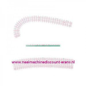 Kurvenlineaal set 3 delig CLOVER 7704