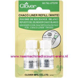 Clover navulling voor Chaco Liner Pen / Rokkenspuit wit art. nr. 470/W