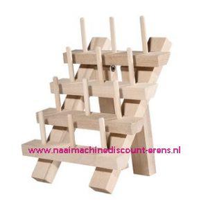 Garenstandaard hout voor 12 klossen 12,5 x 16,5cm
