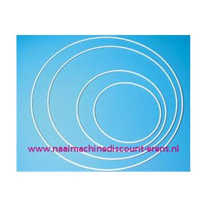 Metalen ring 20 Cm - WIT GECOAT