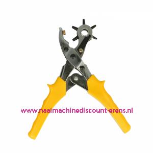 Perforatietang OPRY extra stevig geel handvat