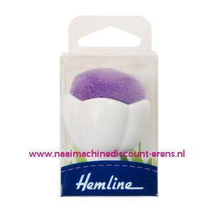 Hemline speldenkussen met zuignap voor op naaimachine paars