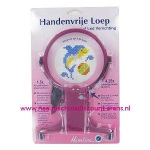 HEMLINE handenvrije loep incl. LED verlichting - kleur Paars