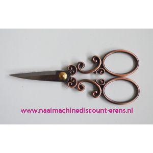 Kleiber Antieke borduurschaar 130 mm Antiek Koper