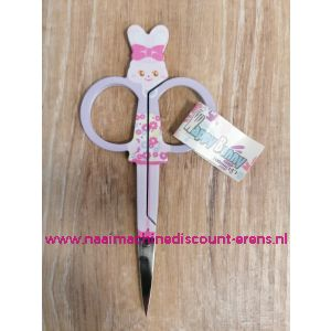 "Happy Bunn Kinder borduurschaar ""Lila Rose"" 11 Cm spitse punt"