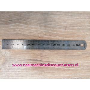 """Liniaal """"SewEasy"""" 15Cm/150Mm Staal Flexibel"""