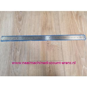 Metalen liniaal in 50 CM en 20 INCH