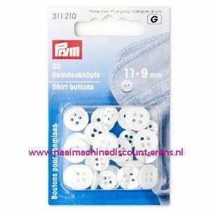 Polyesterknopen 30 stuks Parlemoer 11 + 9 Mm Prym art.nr. 311210