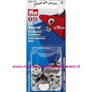 Navullingen Ms Voor 390301 Zilverkleur 15 Mm 10 stuks Prym art.nr. 390321
