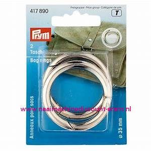 """Zelfsluitende Ringen voor tassen """"zilver"""" prym art.nr. 417890"""