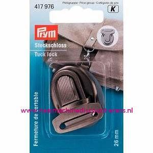 """TT-slot / Insteekslot """" zwart - zilver"""" prym art.nr. 417976"""