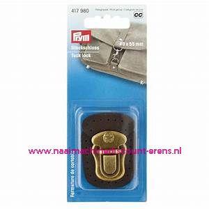 """TT-slot / Insteekslot """"bruin"""" metaal + leer prym art.nr. 417980"""