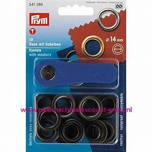 Ringen met Schijven 14 Mm 10 stuks Zwart Prym art.nr. 541384