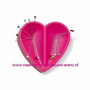 Magnetisch speldenkussen Hartje roze Prym LOVE art.nr. 610284