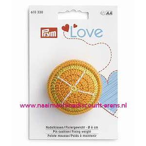 Speldenkussen / Fixeergewicht Sinaasappel Prym Art.nr. 611330