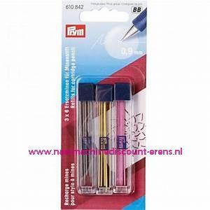 Vervangstiften voor vulpotlood 3 kleuren 18 stuks Prym art. nr. 610842