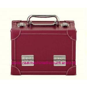 Koffer lederimitatie rood Prym art. nr. 612812