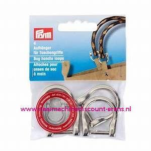 """Hangers voor tashandvatten 18Mm """"Zilver"""" 4 Stuks verpakt prym art.nr. 615130"""