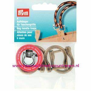 """Hangers voor tashandvatten 18Mm """"Brons"""" 4 Stuks verpakt prym art.nr. 615132"""