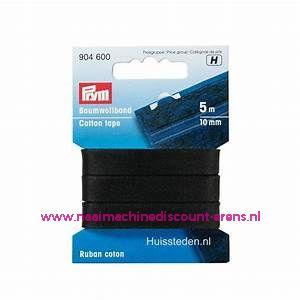 Huishoudband Katoen 10 Mm 5 meter Zwart Prym art.nr. 904600