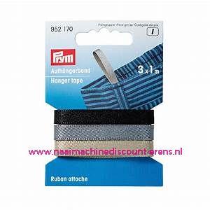 Lussen voor broeken & rokken 3 kleuren x 1 meter  Prym art.nr. 952170