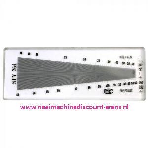 Schering en inslagteller - SFY 264 - LUXE uitvoering in glas