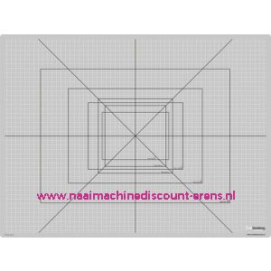 CraftEmotions Snijmat zware kwaliteit 45 x 60cm kleur grijs