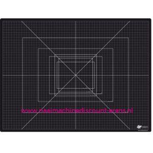 CraftEmotions Snijmat zware kwaliteit 45 x 60cm kleur zwart