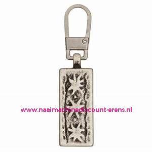 "Trachten Schuiver ""metaal zilver edelweiss 45mm"" UNION KNOPF art.nr. 57861"
